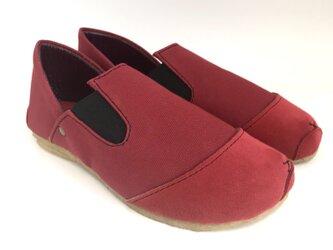 【bargain sale‼】Sサイズ(22〜23㎝)ROUND lace-shoes #倉敷帆布の画像