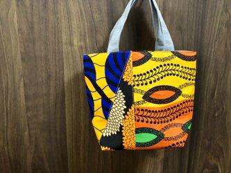 アフリカ布パッチワーク保冷バッグの画像