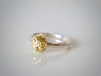 1点物★ Crater ring(sv*brass)の画像