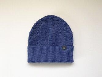さらっとふんわりニット帽 Blueの画像