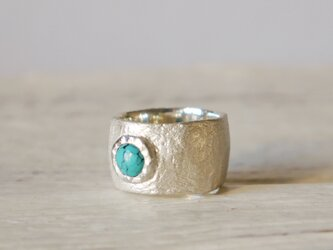 simple wide pinky ring(sv*turquoise)★シンプル★ワイド★シルバー★ピンキーの画像
