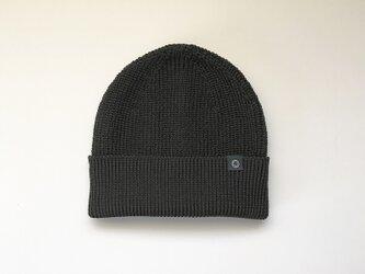 さらっとふんわりニット帽 Blackの画像