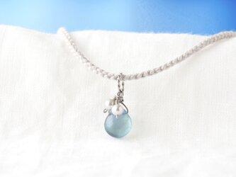 Aqua Pendant(フローライト×淡水パール)の画像
