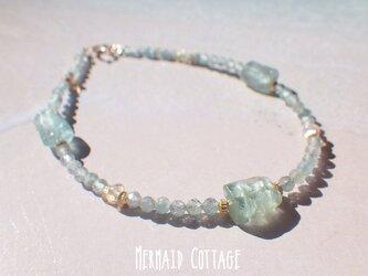 *14kgf*Raw Apatite Beach Bracelet☆アパタイト原石のビーチブレスレットの画像