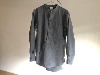 むし『むしのプルオーバー風ワークシャツ』グレー R02SH1Gの画像