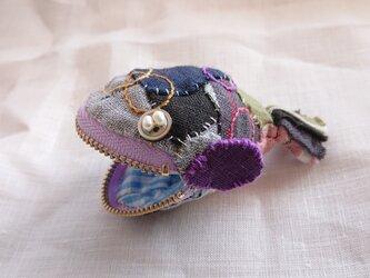 ミニチュア魚ポーチ コインケース 置物 小物 刺繍 個性的  no.38の画像