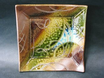 正方形陶板(焼〆)の画像