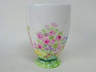 花畑のフリーカップの画像