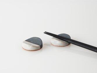TSUKI(YUKI) カトラリーレスト(瓦食器・箸置き・2個セット)の画像