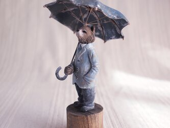 受注制作 雨を仰ぐ(塑像)の画像