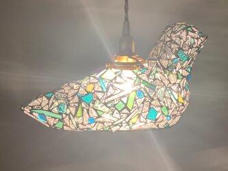 ジュエルナイト『夜界の鳥(大)』グリーン&ブルートパーズの画像