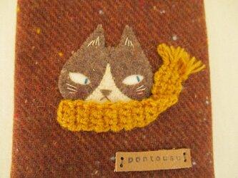 ハチワレ猫の文庫本カバーの画像