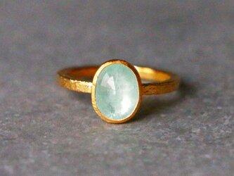 古代スタイル*天然パライバトルマリン 指輪*7号 GPの画像