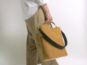 2way 配色 お仕事サイズ・帆布 トートバッグ ベイクドアンバーの画像