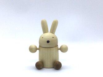 応援マスコットウサギさんのチアリーダー(受注制作)の画像