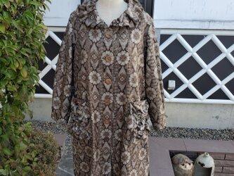 着物リメイク 古布 手作り  村山大島 スプリングコートの画像