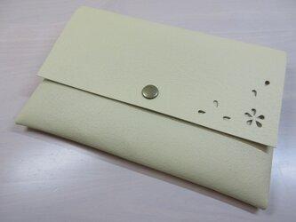 A6、お薬手帳、母子手帳対応・「HANABIRA」シリーズ・ピッグスキン・一枚革のマルチケース・カードポケット付き・0221の画像