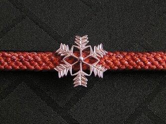 帯留・雪の結晶(SV)の画像
