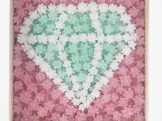 こんぺいとうアート アクアグリーンダイヤモンドの画像