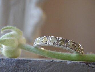 1点もの限定SV原石ダイアのリングの画像