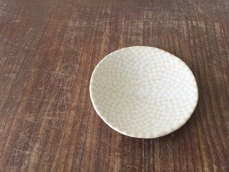 小皿 練込市松 ピンク白釉の画像