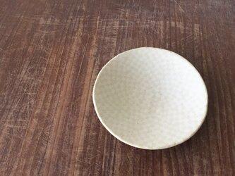 小皿 練込市松 イエロー白釉の画像