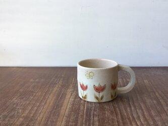 マグカップ小 チューリップとちょうちょの画像