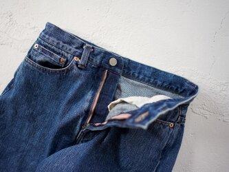 straight/14oz.selvedgedenim jeans/vintage washの画像