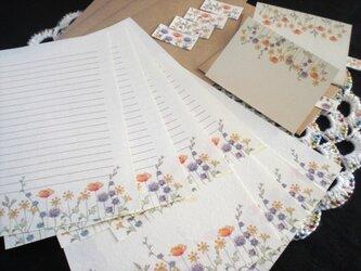 レターセット&メッセージカード(野の花)の画像