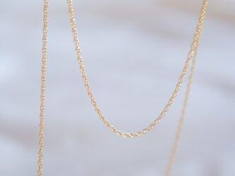 K14gf ロープチェーンネックレス ゴールド チョーカーネックレスの画像