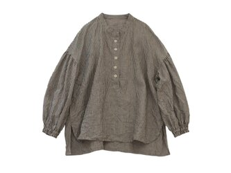 リネンふんわり袖プルオーバーストライプ*No.2の画像