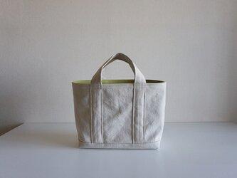 TOTE BAG -bicolor- (M) / ecru × applegreenの画像