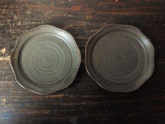 レースリム皿(深緑)の画像