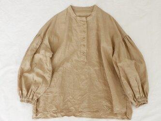 リネンふんわり袖プルオーバーベージュ*No.6の画像