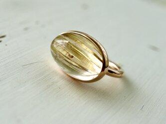 K10[ルチルの実]ルチルクォーツ ringの画像