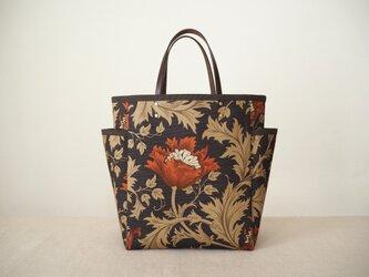 ミニサイドポケットバッグ 「Anemone」ダマスクブラックの画像