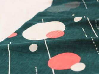 てぬぐい 「ame」深緑×ネオンピンクの画像