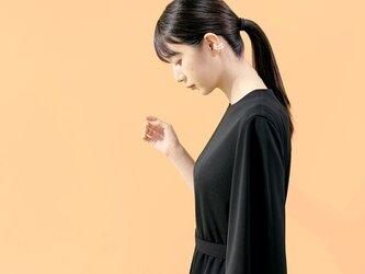 ずっときれいに着られる 大人の上質なワンピース ブラック ●SHELLA●の画像