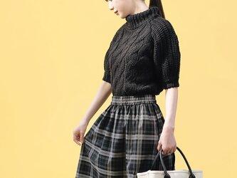 ★S限定★ 年間OK! タータンチェック グレー 黒 ロングスカート ●BEATRICE●の画像