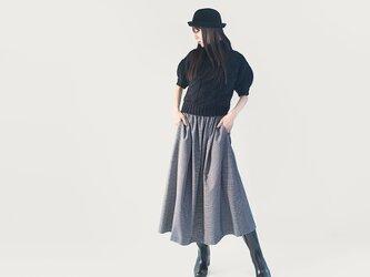 ★全サイズOK!★ 年間OK! 千鳥 チェック グレー 黒 ロングスカート ●TINA●の画像
