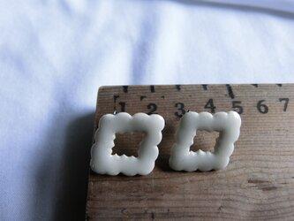 雲【ピアス】(white)の画像