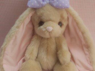 ふわふわぬいぐるみ☆耳の長~いうさぎさん☆ベージュ☆Lの画像