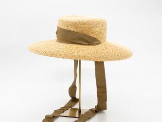 広ツバ麦わらカンカン帽(21SSN-018R)の画像