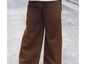 【春の新作】シックな黒檀染めのワイドパンツ S・M・L サイズの画像