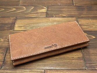 かぶせタイプの紳士長財布(バッファロー)の画像