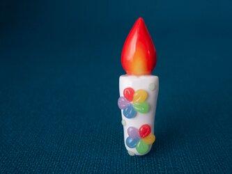 【 ろうそくブローチ 】ウキウキ キャンディーポップ色の画像