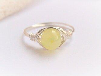 レモン カラー 希少 スミソナイト Wire Ringの画像