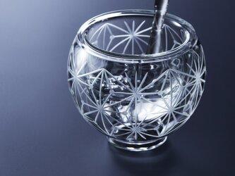 「冷酒がぬるくなりにくい」東京切子ぐい吞み ダブルウォールグラス 千代紙(mini)の画像
