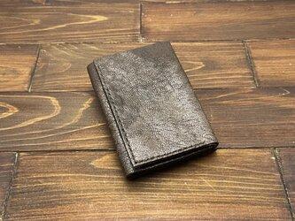 手のひらサイズ!三つ折りミニ財布Pタイプ(ヤギ革)の画像