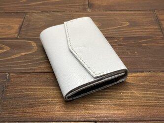 お札を折らずに入れられる極小ミニミニ財布Mサイズ(ヤギ革)の画像